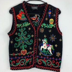 DESIGNERS ORIGINALS Christmas sweater vest